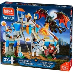 "Building set ""Dragon Castle Clash"", Mega Construx World, 238 pcs"