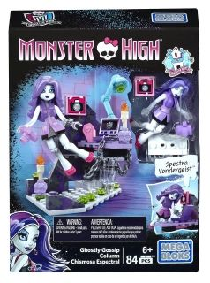 Monster High, Ghostly Gossip Column, Mega Bloks 84 pcs
